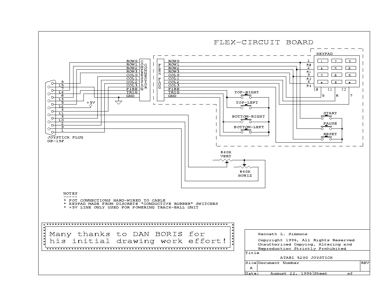 Atari Game Controller Wiring Diagram Diagrams Joystick Schematic For Joysticks Get Free Image Transducer Eagle Andco Actuator